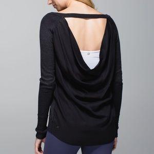 Lululemon Unity Pullover Drape Back Sweater